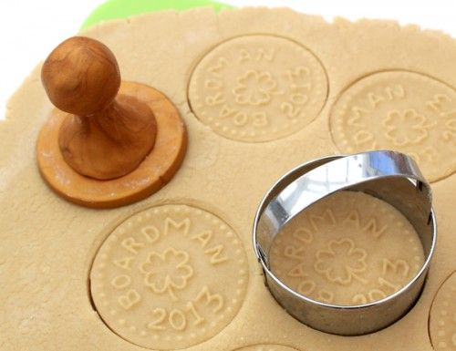 custom cookie stamping tutorial - Custom Cookie Stamp made from Polymer Clay