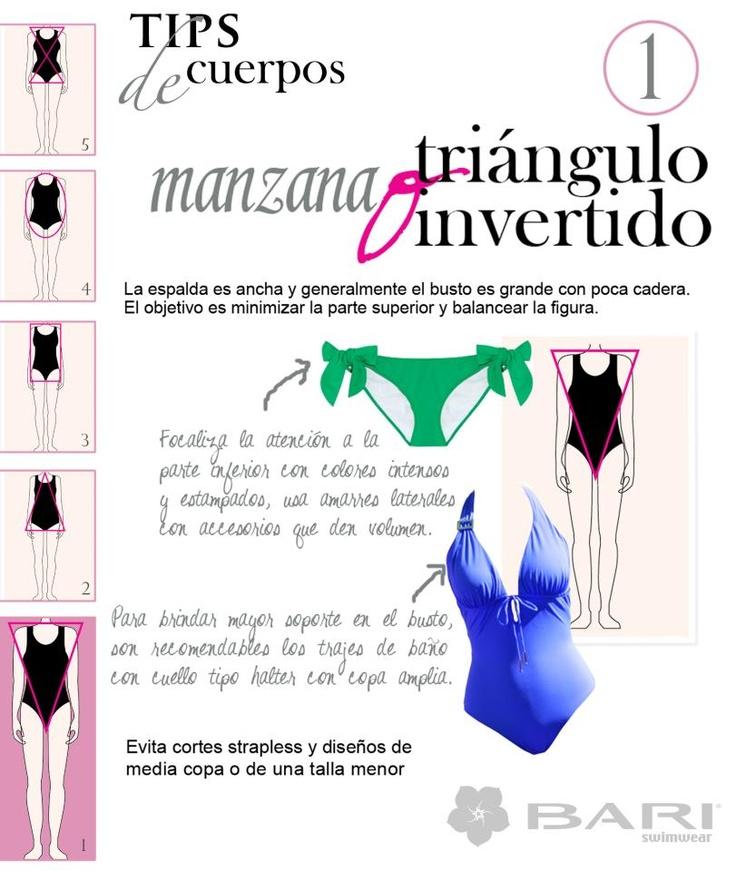 """Traje de Baño ¿Qué piezas usar?  Tips de Cuerpos """"Manzana""""   BY BARI SWIMWEAR"""