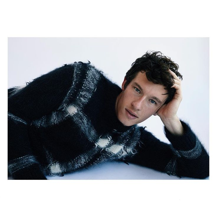 British actor #CallumTurner wearing a #Burberry cashmere blend sweater, captured by Nick Thompson for W Magazine