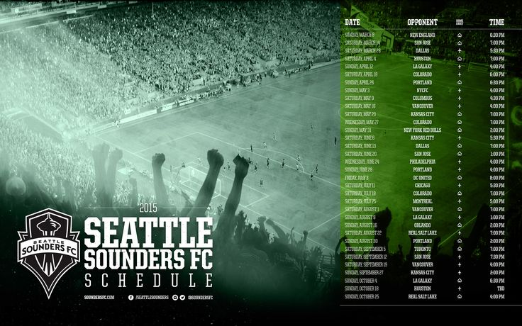 Sounders FC 2015 Schedule | Seattle Sounders FC