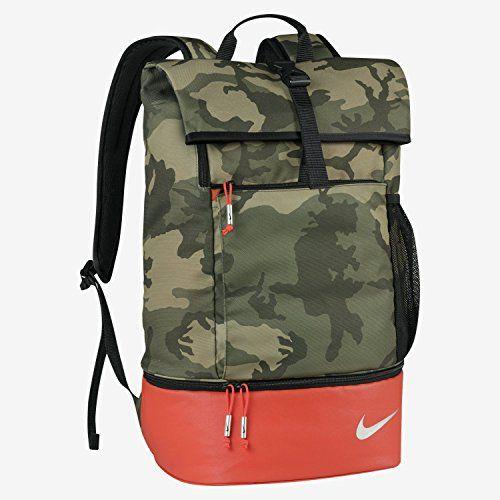 Nike Sport Backpack Olive/Silver/Bright Crimson