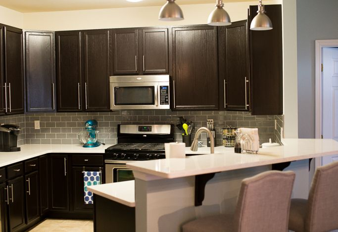 Is Mixing Kitchen Cabinet Finishes Okay Or Not: Kitchen Remodel With General Finishes Java Gel Stain