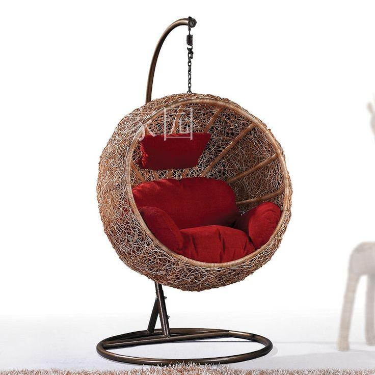 Новая мебель из ротанга стул из ротанга качели висит стул и покачал головой тростью качалка на открытом воздухе корзины из ротанга крытый отдых купить на AliExpress