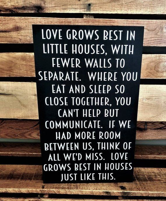 Love Grows Best In Little House Love Grows Best Sign Box Sign