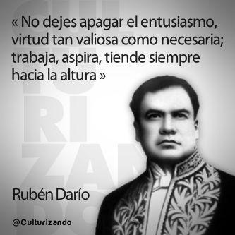 «Juventud, divino tesoro, ¡ya te vas para no volver!» Rubén Darío en 12 frases ~ Culturizando