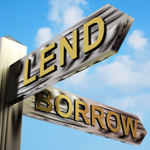 SGE Loans-lend-or-borrow-directions-on-a-signpost