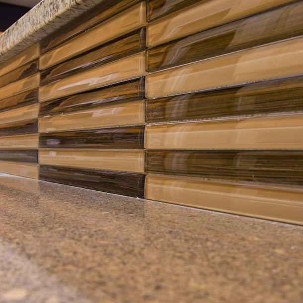Protruding Tile As A Kitchen Backsplash