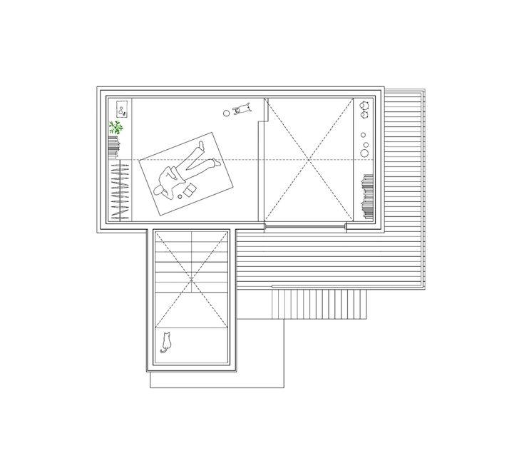 50m2 House,Attic Floor Plan