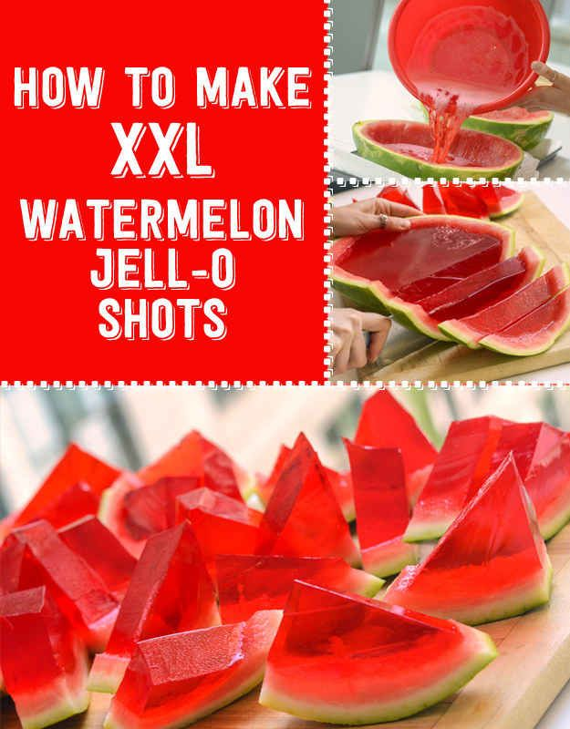 Here's How To Make XXL Watermelon Jell-O Shots I'm going to try it with Raspberry vodka...