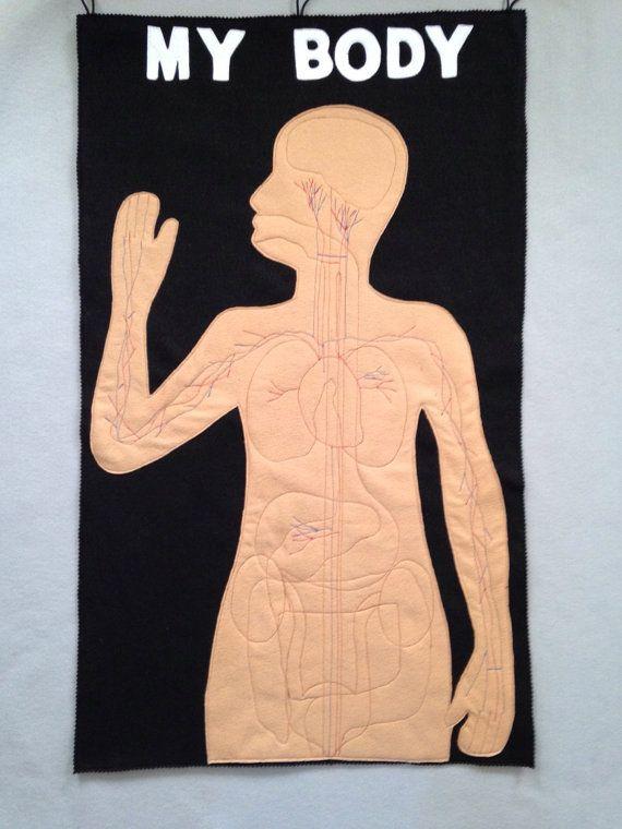 Felt human organs felt my body mat felt story by Happyfeltworld