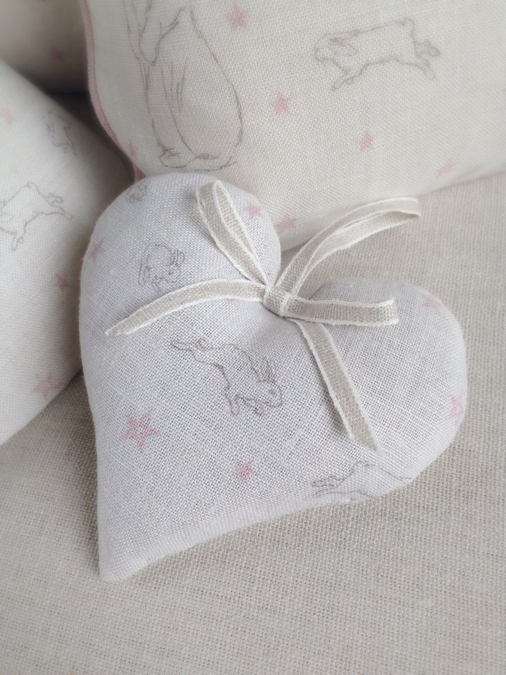 Rabbit All Star Lavender Heart — Clarabelle Interiors.£10.95