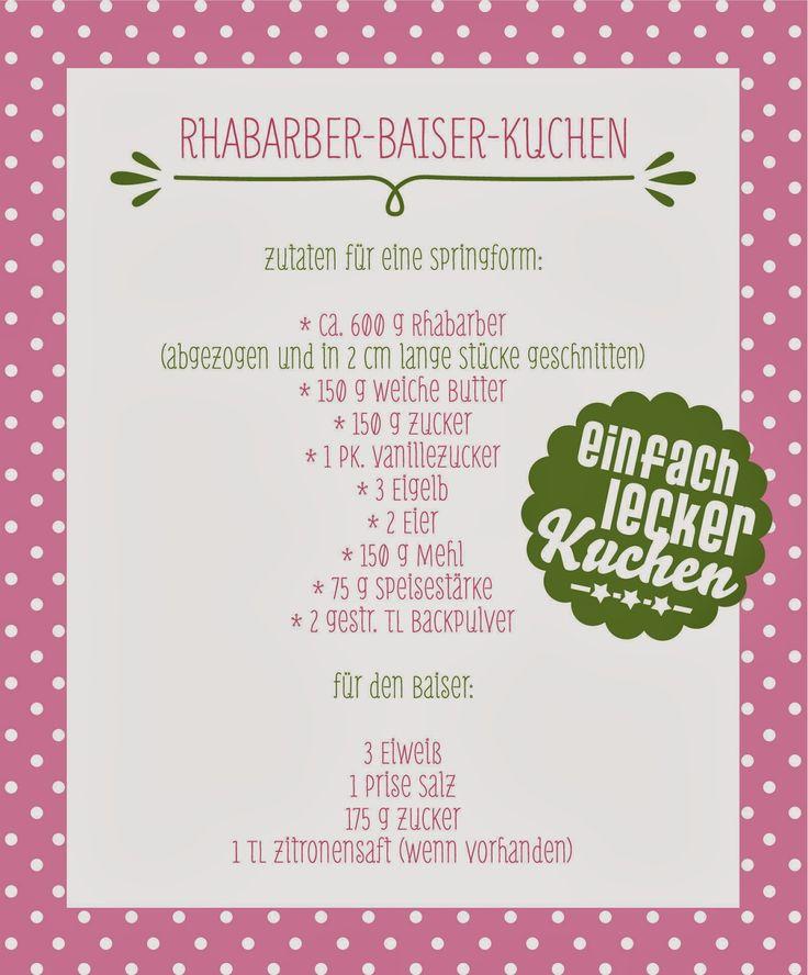 """raumdinge: Kuchen – einfach & lecker: """"Rhabarber-Baiser-Kuchen"""""""