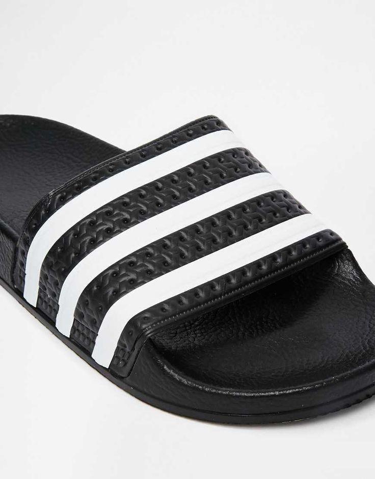 Sandales Curseur De Adilette En Noir - Adidas Originals Noir VZSSyT5rM