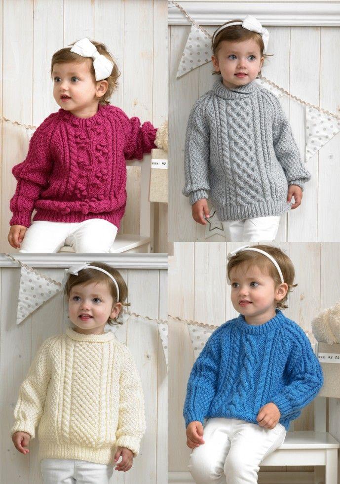 Stylecraft Childrens Sweaters Special Knitting Pattern 4175  Aran   Knitting   Patterns   Minerva Crafts