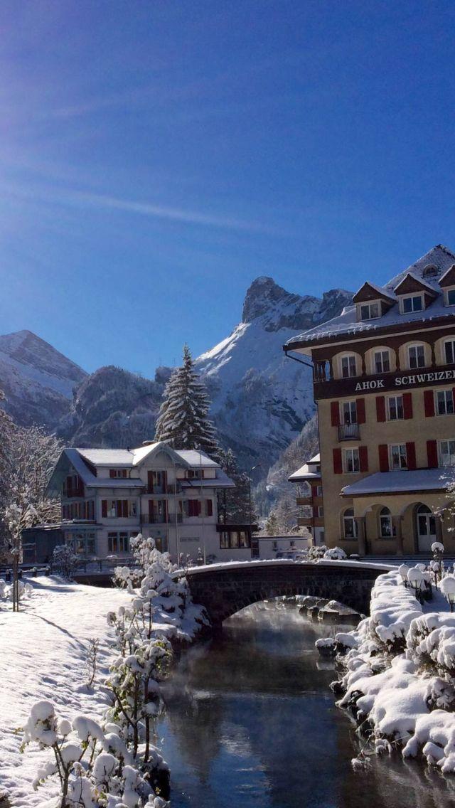 Kandersteg Switzerland.Christmas 2014 we got snow in the last few days by the bucket load.