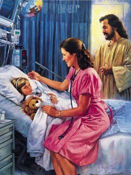 christian artwork famous images of Nathan Hook | The Comforter by Nathan Greene