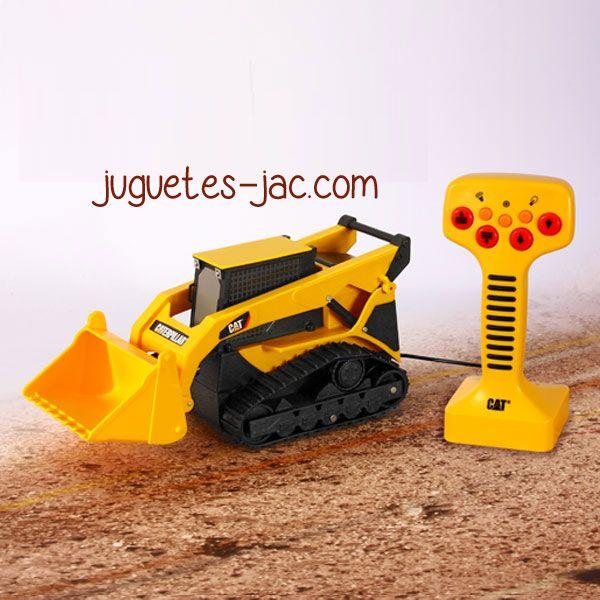 Tractor oruga de mando de cable, sonido y movimientos.