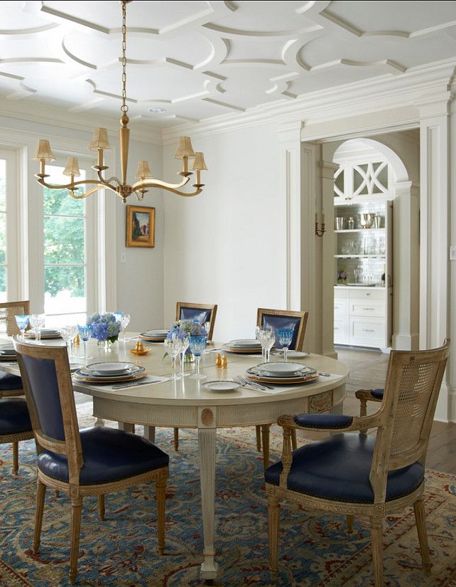 georgian style lake house dining room | Dining Room. Elegant Dining Room Design