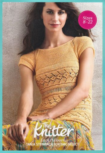Lacy Pullover Top Vintage Knitting Pattern for download - Five Sizes 8-22 Finished Bust 31 1/2 - 47 1/4 (80-120 cm)