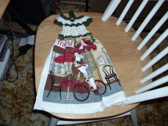 Crochet Tea Towel Dress Topper Free Pattern