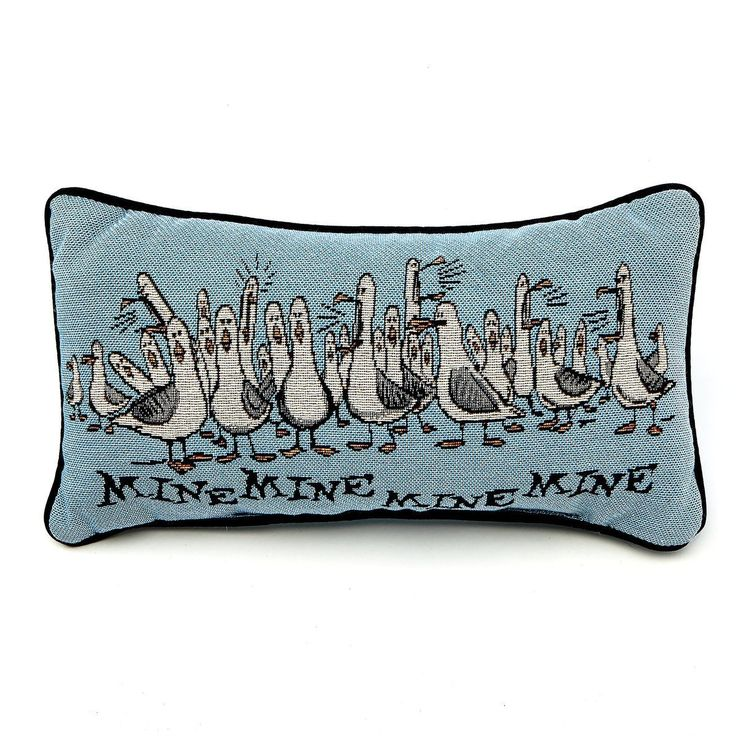 disney parks seagulls finding nemo mine mine mine blue pillow new with tag