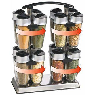 Carrousel à épices de 16 pots double ouverture Quad