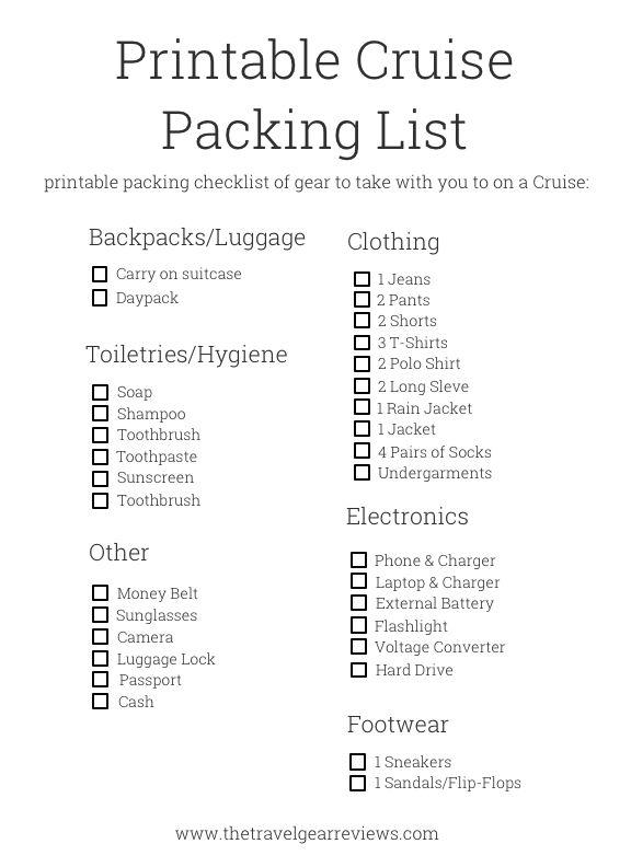 caribbean vacation checklist