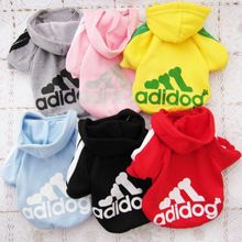 Pet Puppy Dog Clothes Coat Hoodie Sweater Costumes Size S M L XL XXL 7 Colors Available Free Shipping(China (Mainland))