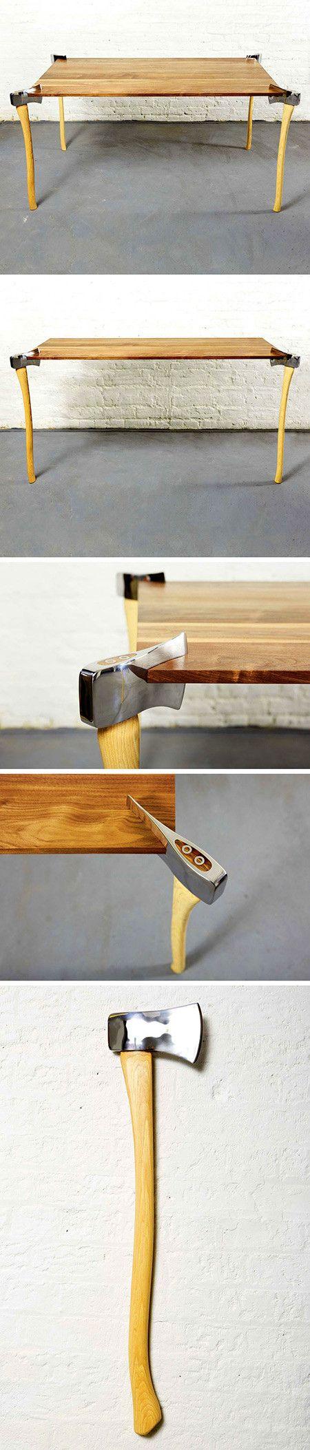 axt tisch m bel esstisch schreibtisch diy furniture with. Black Bedroom Furniture Sets. Home Design Ideas