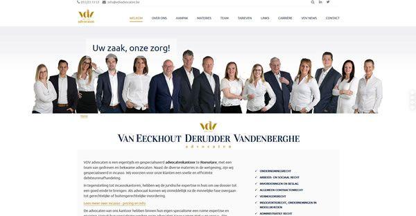 Website, Webdesign, advocaten, VDV advocaten