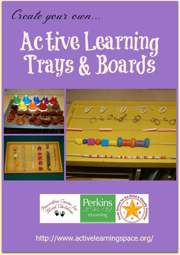 Create your own Active Learning trays and boards for learners with visual impairments and multiple disabilities!