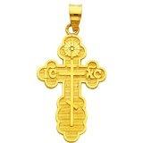 #Baptismal, #Charm, #CROSS, #Gold, #Greek, #Olga, #ORTHODOX, #Pendant, #Yellow