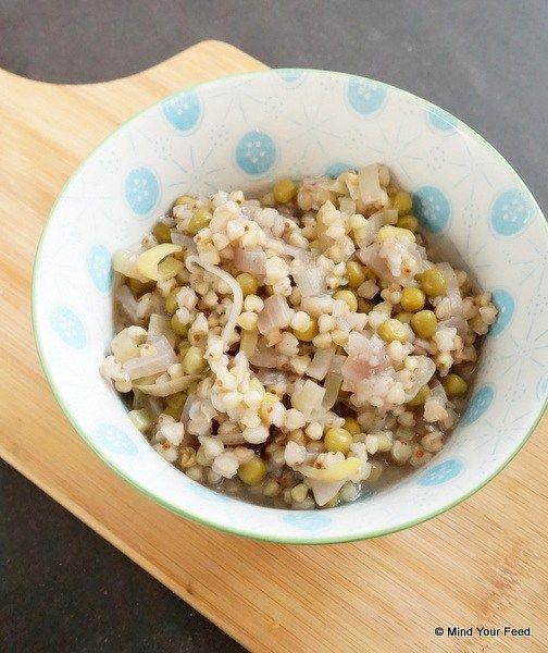 Boekweit risotto met doperwten
