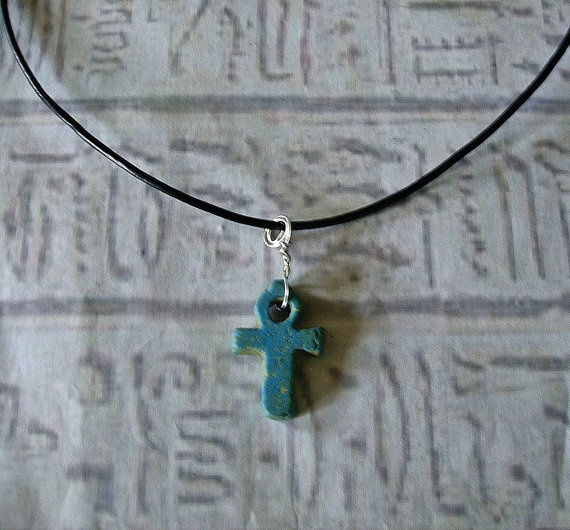 Ankh Necklace Egyptian faeince ankh by EgyptianInspirations, $14.99: Egyptian Faeinc, Egyptian Ankh, Egyptianinspir, Necklaces Egyptian, Egyptian Necklaces, Ankh Necklaces, Faeinc Ankh, Egyptian Inspiration