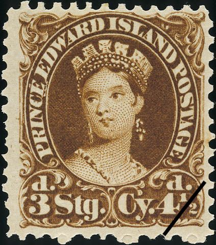 postage stamps   Postage stamp of Queen Victoria, from Prince Edward Island, June 1 ..