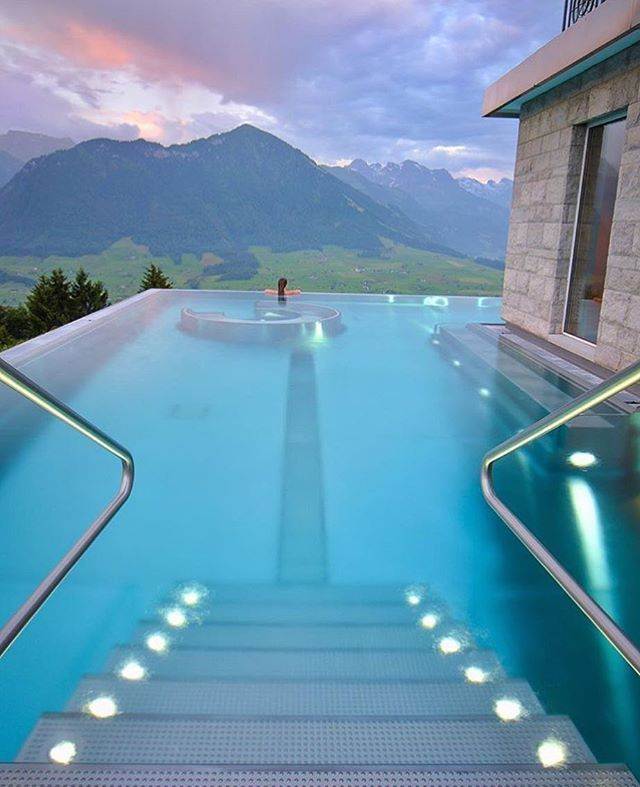 Magical view at the Villa Honegg Hotel in Switzerland || places to #getlucky curated by your friends at luckybloke.com