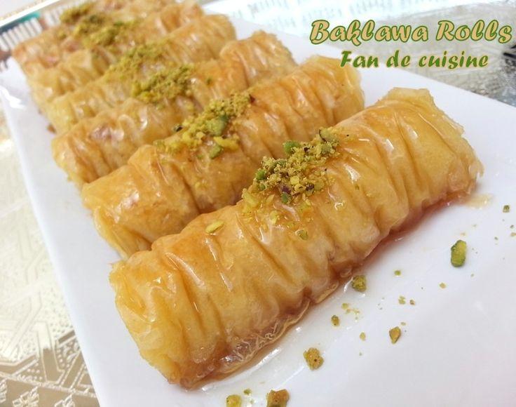 how to make arabic baklava rolls