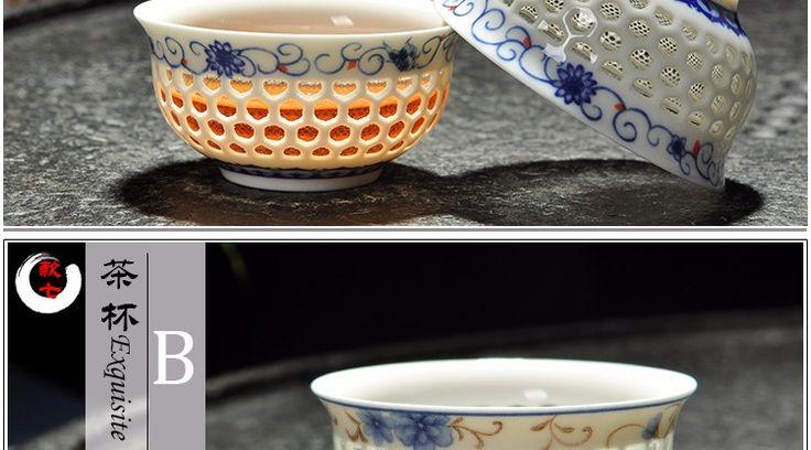 Изысканный чашки чая, Высокое качество китайский стиль и белый фарфоровая чашка, Выдолбите сотовые дизайн элегантный керамический чашка купить на AliExpress