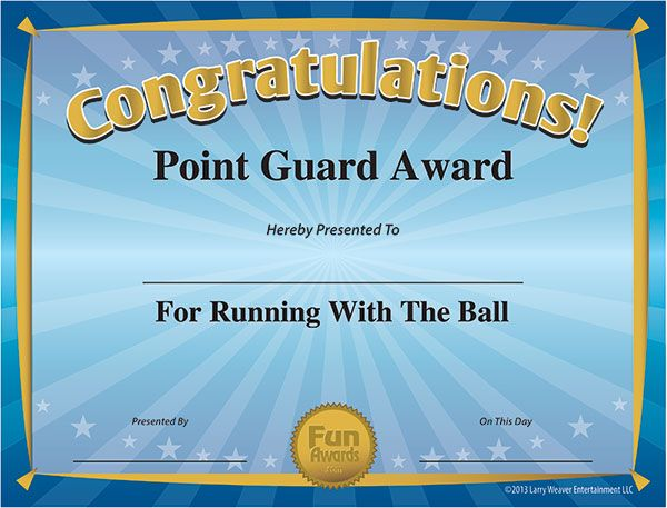 Funny Sports Awards | Funny certificates, Fun awards for ...
