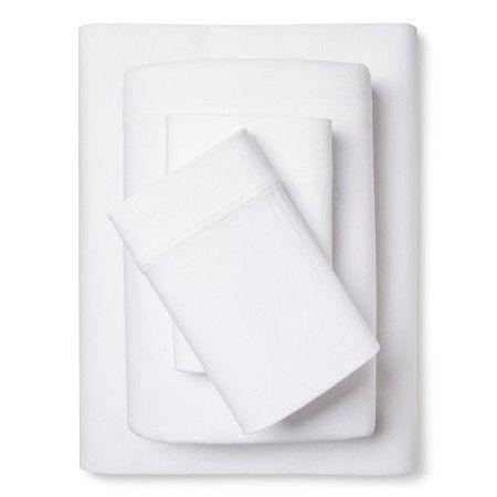 Room Essentials™ Jersey Sheet Set - True White (California King) : Target