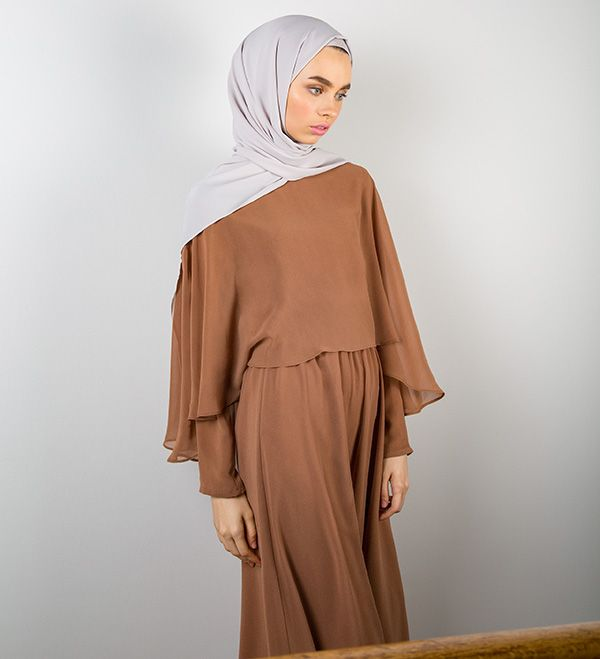 Soft Cinnamon Cape Maxi Dress Soft Cinnamon Cape Maxi Dress [] - £59.90 : Inayah, Islamic Clothing & Fashion, Abayas, Jilbabs, Hijabs, Jalabiyas & Hijab Pins