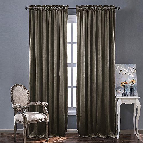 Velvet Room Darkening Curtains /Drapes   Rod Pocket Class.