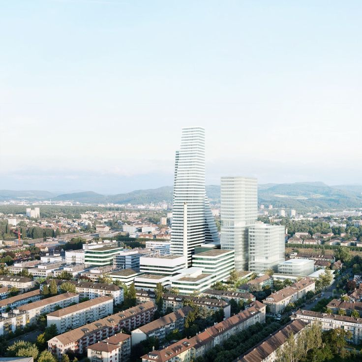 Herzog & de Meuron Designs 205-Meter Tower and Research Center for Swiss Pharmaceutical Company