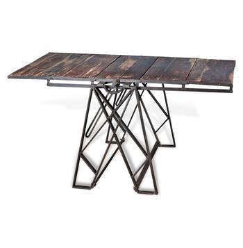 Prasat Industrial Loft Convertible Dining Table Book Shelf. An old baker's tool