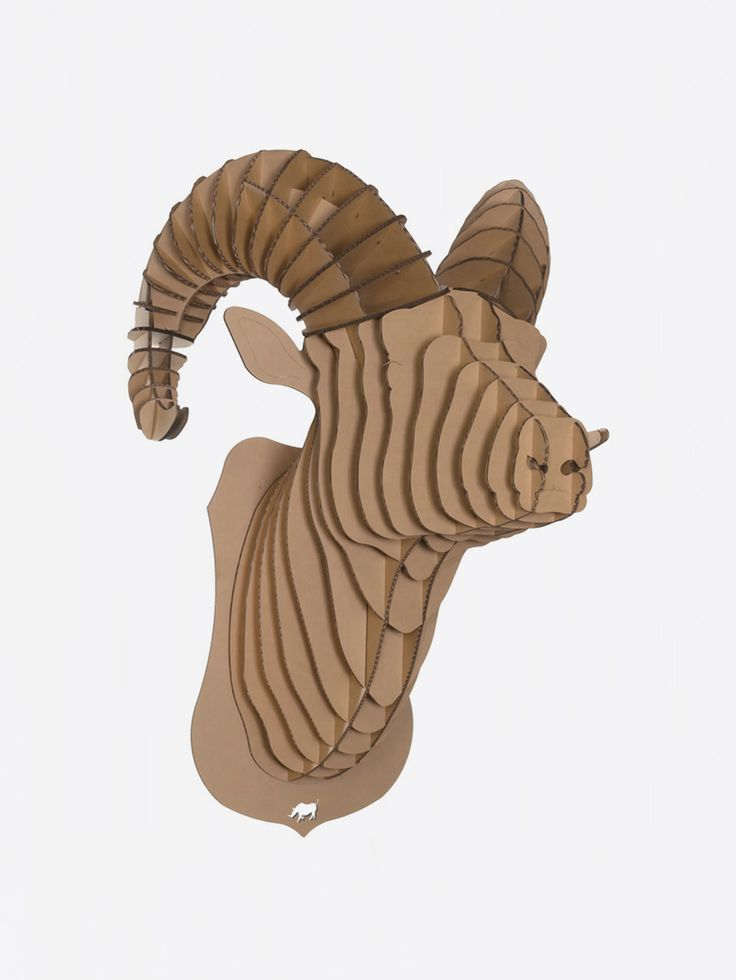 CARDBOARD SAFARI , Rocky Ram Bust Kahverengi Karton Koç Kafası Large #shopigo#shopigono17#availableonsite#decoration#design#style#fashion#lifestyle