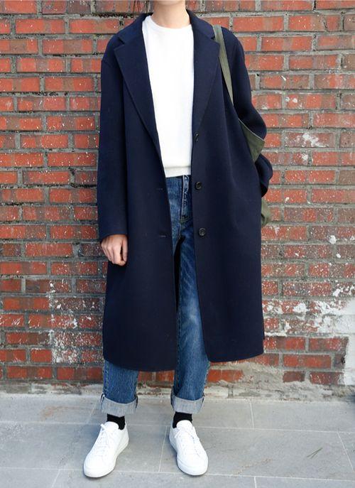 Denim & navy coat
