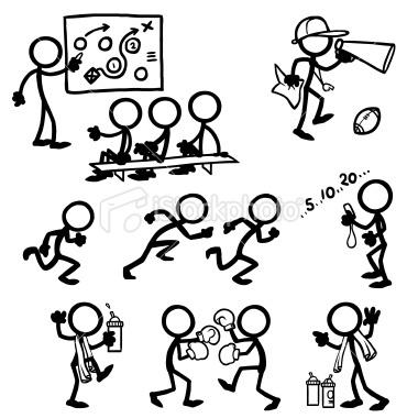 Stickfigure Coaching Training Royalty Free Stock Vector Art Illustration