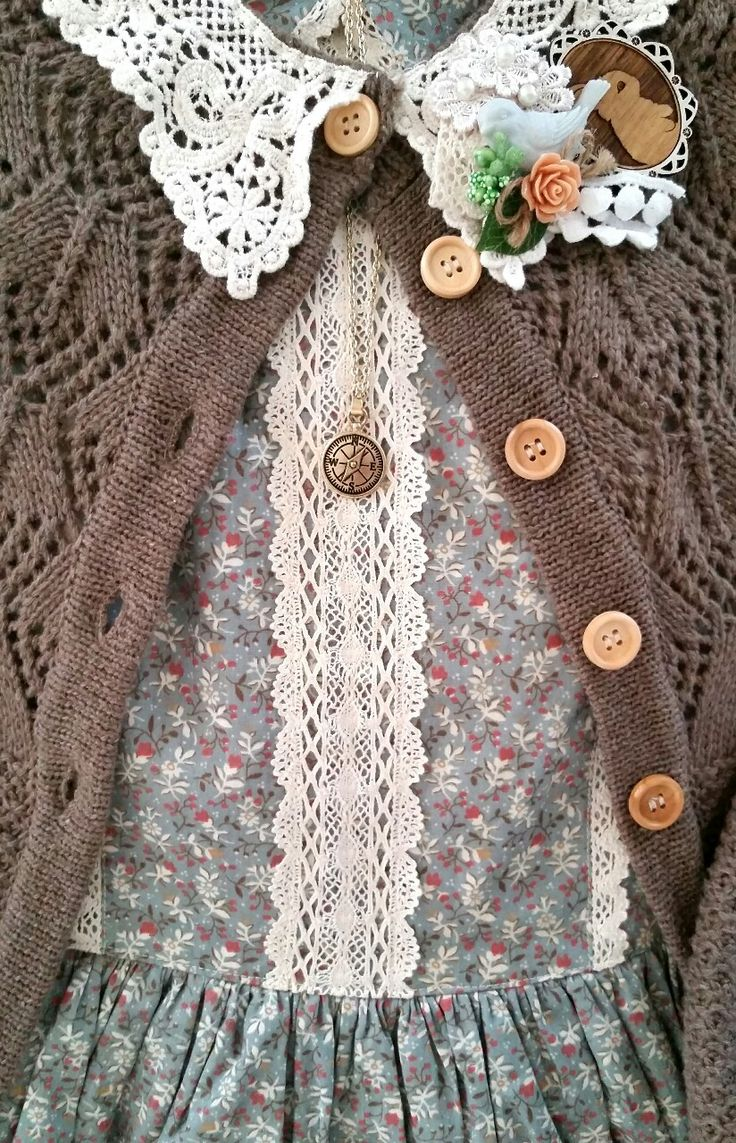 """last-cookie-in-the-jar: """" Mori/ Country Loli coord for today. I've been loving muted colors, delicate patterns, soft knits, and cotton. In the warm spring weather I want something easy and comfortable..."""
