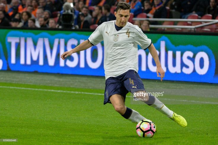 Matteo Darmian from Italy during the friendly match between Netherlands and Italy on March 28, 2017 at the Amsterdam ArenA in Amsterdam, Netherlands.