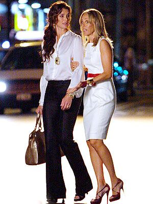 "Brooke Shields and Kim Raver in ""Lipstick Jungle,"" 2008."